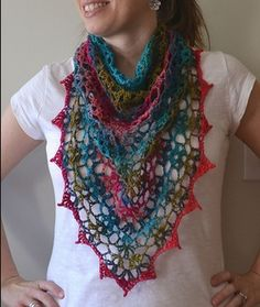 Ravelry: elizabeth-ray& Bridal Shawl in Noro Crochet Shawls And Wraps, Crochet Poncho, Knit Or Crochet, Knitted Shawls, Crochet Scarves, Crochet Crafts, Crochet Clothes, Crochet Hooks, Bridal Shawl