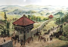 Many Roman border walls seem to have been more modern in use. As tools to control the flow of trade, and to prevent small scale raiding along with keeping an eye on the neighbors. This mostly likely arises from the Romans confidence in their field armies ability to repel invasion.