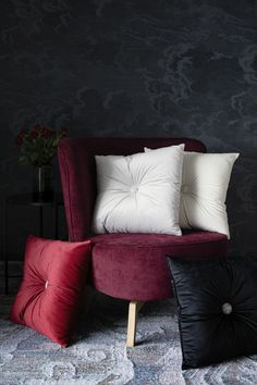 Lennol   MEELA Cushions with decorative button Mystical Forest, Cushions, Colours, Throw Pillows, Button, Bed, Design, Home Decor, Toss Pillows