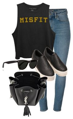"""Untitled #1549"" by beatifuletopshop ❤ liked on Polyvore featuring Yves Saint Laurent and Ray-Ban"