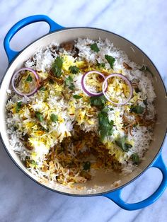 Biryani is typically cooked with lamb or chicken but since I do my best to limit meat, I came up with a vegetarian version which is equally delicious and great Frozen Vegetables, Veggies, Rice And Gravy, Red Chili Powder, Fried Onions, Non Stick Pan, Biryani, Garam Masala, Chutney
