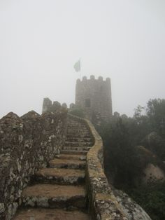 LISBON: Castle-climbing daytrip to Sintra, Portugal Tower Games, Sintra Portugal, Day Trips, Monument Valley, Climbing, Wanderlust, Rain, Explore