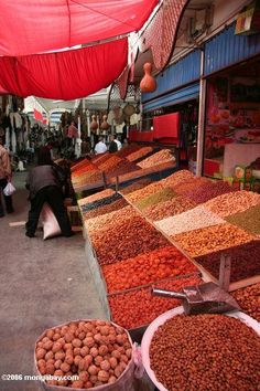 Dried fruit in a Chinese market   Image Location: Xinjiang (Silk Road region in western China), CHINA   Photographer/Camera: Photo taken by Rhett A. Butler