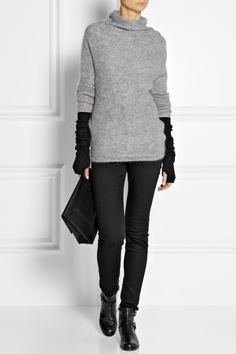 Knit Inspiration - Rick Owens | Ribbed wool arm warmers | NET-A-PORTER.COM