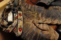 Alte Lederhose im Strumpfarhaus