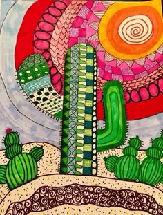 My desert scene # Desert scene The market in cactus house plants is booming and with very good reason. These prickly little guys are great fun, easy to keep and very attractive. Cactus Drawing, Cactus Painting, Cactus Art, Cactus Plants, Cactus Decor, Cactus Doodle, Mini Cactus, Watercolor Cactus, China Painting