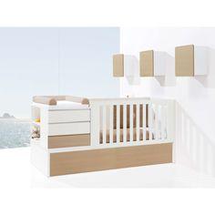 Cunas convertibles modernas y de diseño para bebés. Modern baby convertible crib. Kurve Nature Premium Alondra Cama Junior, Baby Cribs, Baby Beds, Kids Bunk Beds, Kids Furniture, Kids Bedroom, Baby Room, Nursery, Baby Shower