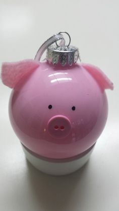 Handmade glass Pig ornament by OrdinaryRunner on Etsy