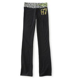 87 Zebra Knit Yoga Pants - Aeropostale