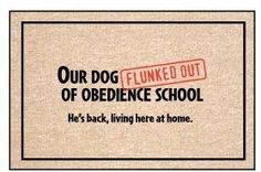 Door Mat / Welcome Mat / Porch Mat:   Our Dog by iamfinebydesign