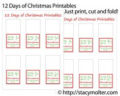 12 Days of Christmas Printable - 12 Days of Christmas for Him
