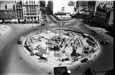 Construcción del Obelisco.