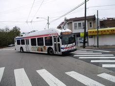 SEPTA New Flyer trackless trolley off wire operation. New Flyer, Buses, Wire, News, Busses, Electrical Cable