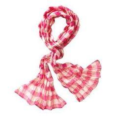 Pink Gingham Scarf