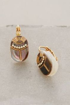 Gas Bijoux Nacre Scarab Posts -- love these but not sure that I would spend that much on earrings