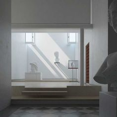 The Canova Museum and Cast Gallery | In 1957, the great Venetian architect Carlo Scarpa expanded a wing of the gallery, in order to flood the casts with light.