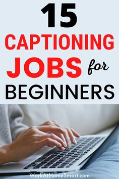 Looking for the best online captioning jobs for beginners? Here's a list of 15 companies with closed captioning jobs from home. Work From Home Careers, Work From Home Companies, Legit Work From Home, Legitimate Work From Home, Work From Home Opportunities, Earn Money Online, Online Jobs, Captioning Jobs, Reading For Beginners
