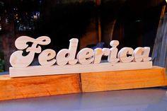 Nome con lettere in legno