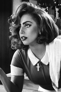 wallpaper sin city a dame to kill for, lady gaga, bertha, black Lady Gaga Pictures, Pop Singers, Hollywood Celebrities, American Singers, Retro, Beautiful People, Actresses, Black And White, Portrait
