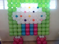 Candy land balloon decor