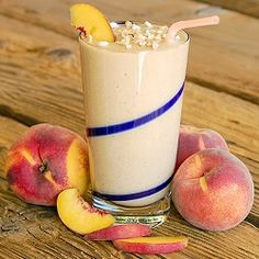 """Peaches are in season!!  This tops my """"fresh ingredients"""" recipes for summer.  Get more information or, Join The Body by Vi Challenge at www.shakevishake.bodybyvi.com"""
