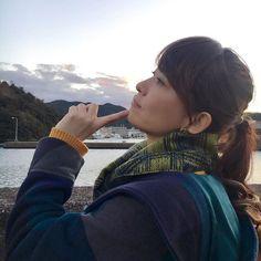 最後はアンニュイ番長。  #徳島県 #美咲町 #大浜海岸 #どこ見てんだ