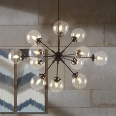 With its contemporary design, the Paige Chandelier adds intrigue to any space. The over-sized shades give this chandelier a modern look in living and dining rooms. Professional installation is recommended. Rectangle Chandelier, Sputnik Chandelier, Chandelier Shades, Modern Chandelier, Chandelier Lighting, Chandeliers, Chandelier Ideas, Dining Room Light Fixtures, Dining Room Lighting