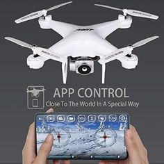 Flight Time Drone Quadcopter JJRC RC Drone with HD Camera Live Video FPV Quadcopter with Headless Mode Altitude Hold Helicopter with 2 Rc Drone, Drone Quadcopter, Drones, Foldable Drone, Phantom 3, App Control, Hold On, Live, Naruto Sad