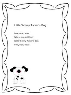 This is a song and a dance! I like to use it to build community at the beginning of the year.   Read my blog post about how I use it in my classroom: http://not-very-fancy.blogspot.com/2014/07/little-tommy-tuckers-dog.html