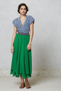 "Colima Maxi Skirt $118.00 By Vanessa Virginia Pull-on styling Polyester Machine wash Regular: 36.25""L Petite: 34.25""L Imported Style #: 26523803"