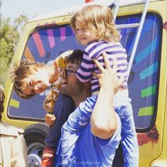 MIsha Collins at the Gishbus at Griffith Park in Los Angeles with his Mason and West