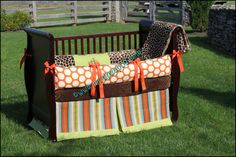 so cute- @Erin this so... reminds me of you!  Custom Baby Crib Bedding Set Authentic ModPeaPod by ModernPeaPod, $245.00
