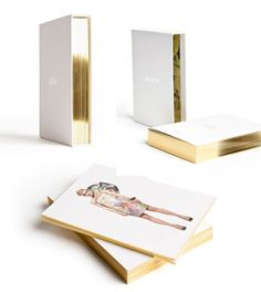 Honor look book: opulent case of gold edged loose cards