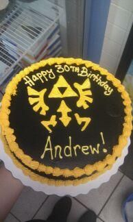 Triforce from Zelda cake