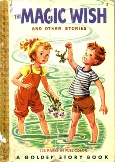 The Magic Wish and Other Johnny and Jane Stories, 1949, by Elsa Ruth Nast and pictures  by Corinne Malvern...this the 2nd book in a series of pocket books for children and each story tells another adventure of Johnny and Jane...a Golden Story Book