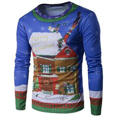 a2e25f3377c83 Christmas Ugly Sweater Long Sleeve Muscle T- Shirt - Christmas House Party