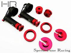 Hot racing Aluminum reservoir shock upgrade kit for Axial Yeti XL 90032 A pair #Affiliate