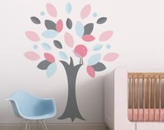 Leafy Tree Wall Decals Vinyl Wall Decals Children by WilliamCraft. $95.00, via Etsy.