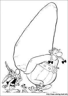 Asterix colouring