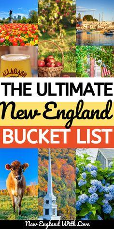 New England Usa, New England Travel, New England States, New England Fall, East Coast Travel, East Coast Road Trip, Maine Road Trip, Road Trip Usa, Vacation Trips
