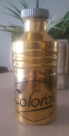 Coloral gold water bottle in Sporting Goods, Cycling, Vintage Cycling   eBay