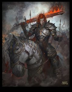 m High Elf Fighter Plate Armor Greatsword Horseback barding male Army of the Reaper eastern border med Fantasy Warrior, Fantasy Male, Fantasy Rpg, Medieval Fantasy, Dark Fantasy Art, High Fantasy, Fantasy Inspiration, Character Inspiration, Character Art