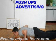 svetlio1: advertise while doing 100 push ups for $5, on fiverr.com