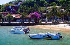 water taxis take you to paradisiac beaches - Buzios, Rio de Janeiro