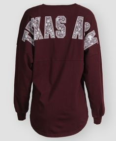 Texas A&M lace v neck spirit jersey. #AggieGifts #AggieStyle