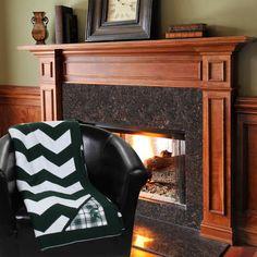 Michigan State Spartans Chevron Throw Blanket