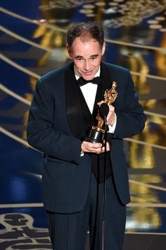 Mark Rylance accepts the Best Supporting Actor award for 'Bridge of Spies' onstage during the 88th Annual Academy Awards at the Dolby Theatre on February 28, 2016 in Hollywood, California.