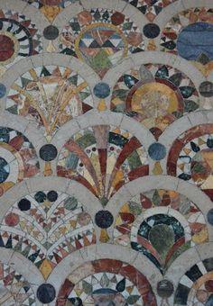 St David's Church, Exeter - floor tiles for quilt inspiration - stunning!