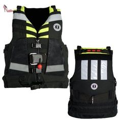 Mustang Universal Swift Water Rescue Vest - Fluorescent Yellow-Green/Black by Mustang Survival - Chaussures mustang (*Partner-Link)