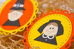 Thanksgiving embellishments  boy and girl Pilgrims  by TodoPapel,